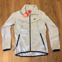 Nike Tech Windrunner Jacket Light Weight Grey Reflective 589273-002 Small [S]