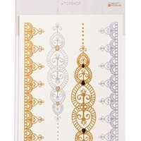 Women's Topshop Metallic Temporary Tattoos - Gold Multi (Set of 4)