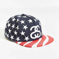 Stussy Stars + Stripes Snapback Hat- Navy One