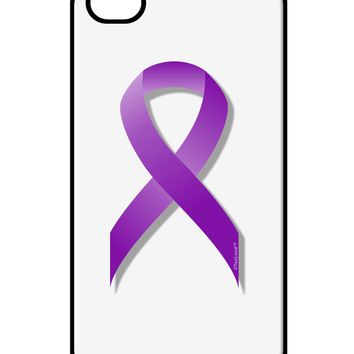 Epilepsy Awareness Ribbon - Purple iPhone 4 / 4S Case  by TooLoud