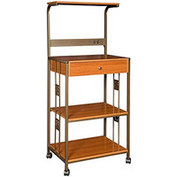 Hazelwood Microwave Cart with Wood Top