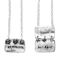 $175 REMINDER, BREATHE NECKLACE | Silver Jewelry, Remember | UncommonGoods