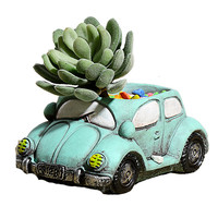 Creative Car Concrete Small Flower Pots Succulent Planters Vase
