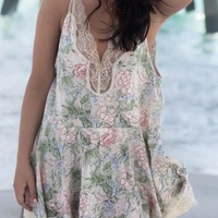So Sweet Blush Floral Lace Detail Dress