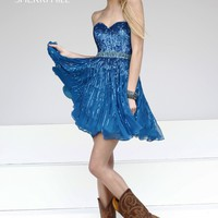 Sherri Hill 8528 Short Sequin Homecoming Dress