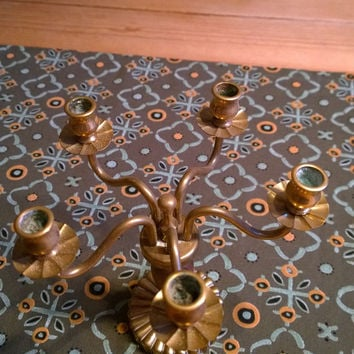Brass Chandelier with 5 arms antique vintage decoration Christmas holiday