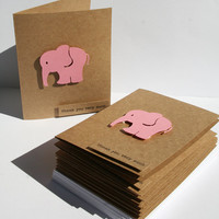 Baby Shower Thank You Cards - Baby Thank You Cards - Pink Elephants -Thank you Cards - Pink Thank You Cards - 10