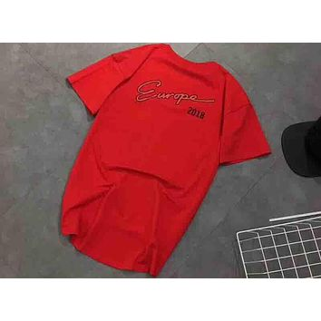 Balenciaga 2018 New ERUOPE Early Spring Logo Print T-Shirt F-XMCP-YC Red