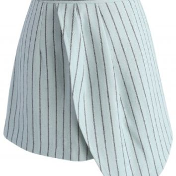 Coming of Stripes Flap Skirt - Retro, Indie and Unique Fashion