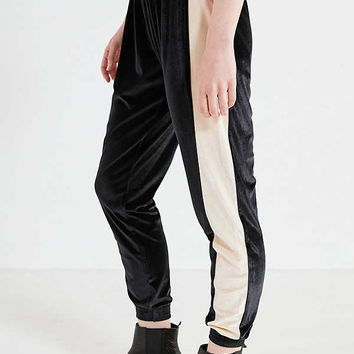 UO Striped Velvet Jogger Pant | Urban Outfitters