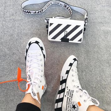52dc9497f491 Converse 70s Hi x Offwhite Canvas High-top Sneakers