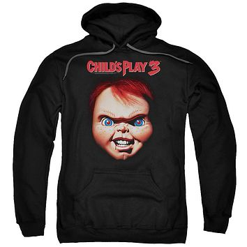 Childs Play Hoodie Chucky Close Up Black Hoody