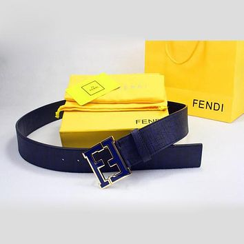 Perfect FENDI Woman Fashion Smooth Buckle Belt Leather Belt Tagre™
