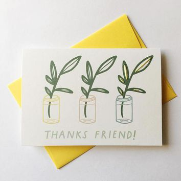Allie Biddle - Thanks Friend! Sweet Thank You Card