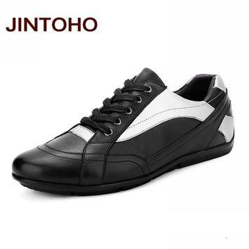 Genuine Leather Men Shoes Fashion Glitter Leather Men Flats Shoes Luxury Shoes Designe