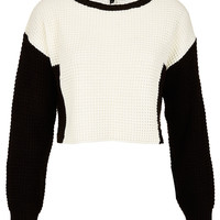 Knitted Colour Block Crop Jumper - New In This Week - New In - Topshop USA