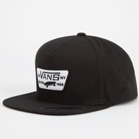 Vans Full Patch Mens Snapback Hat Black One Size For Men 24688810001