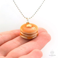 Scented Pancake Necklace - Food Jewelry