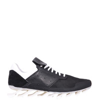 Adidas by Rick Owens Blade High leather and suede sneakers
