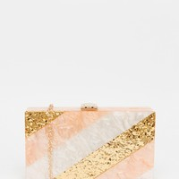 Vintage Styler Pearlescent and Gold Box Clutch