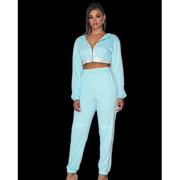Sparkle Babe Rhinestone Jogger 2pc Set