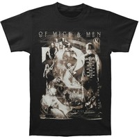 Of Mice & Men Men's  Photo 2014 T-shirt Black Rockabilia