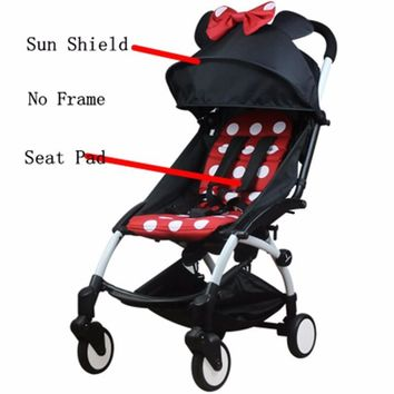 Stroller Accessories for Baby stroller Seat + Sun Shade Cover Pram Buggies Organizer Cushion Pad Sunshade Canopy