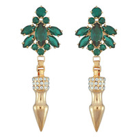 Mawi Emerald Nymph Pave Spike Earrings | SOPHIESCLOSET.COM | Designer Jewelry & Accessories