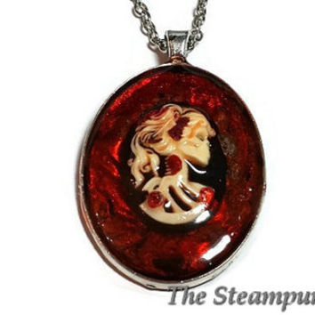 Bloody Lolita Skull Necklace