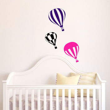 Housewares Hot air Balloons Wall Vinyl Decal Sticker Kids Nursery Baby Room Decor V297