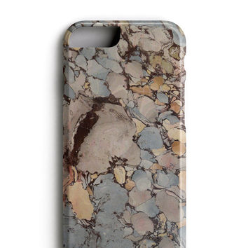 Brown Grey Speckle Marble iPhone 6 Case