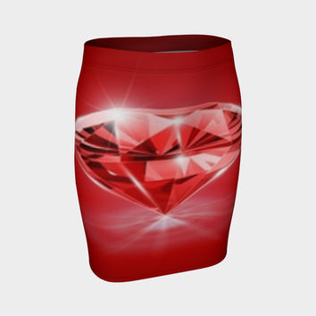 diamond fitted skirt Fitted Skirt