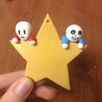 Undertale Baby Sans and Papyrus Xmas Ornament