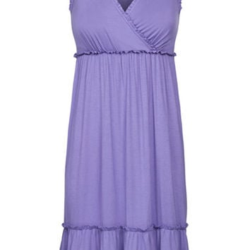 Crossover Maternity & Nursing Night Gown {Lavender}