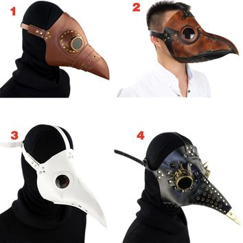 Steampunk Plague Bird Doctor Mask Faux Leather