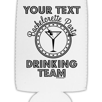 Personalized -Name- Bachelorette Party Drinking Team Collapsible Neoprene Tall Can Insulator