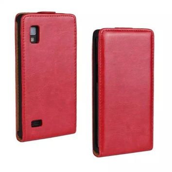 10 Colours Ultra Thin Genuine Leather Case For LG Optimus L9 P760 P765 Magnetic Buckle Vertical Flip Cover Mobile Phone Shell