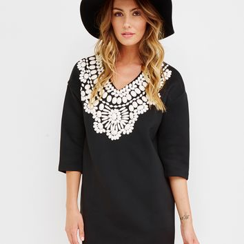 THE CHARMER BEADED TUNIC DRESS