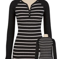 Screen Print Striped Henley - maurices.com