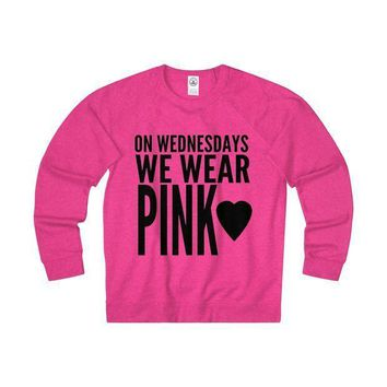 On Wednesdays We Wear Pink Sweatshirt Inspired By Mean Girls Rules