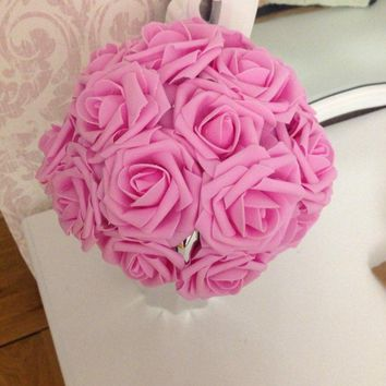 10 Heads 11 Colors Artificial Foam Rose Flowers Wedding Decorations, Wedding Decor Gifts