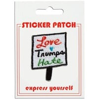 THE FOUND STICKER PATCH - LOVE TRUMPS HATE SIGN