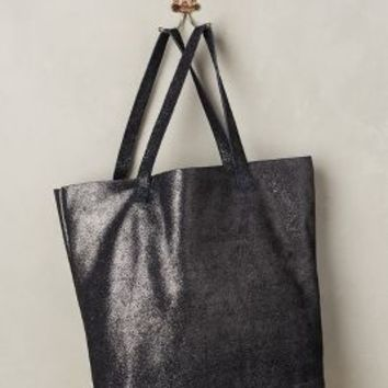 Monserat de Lucca Suede Shimmer Tote in Navy Size: One Size Bags
