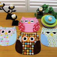 Pattern, Owl Place Mats, Who's Place by Susie C Shore Designs