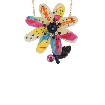 N2 by Les Néréides ENERGETIC BOTANY MULTICOLOR FLOWER NECKLACE