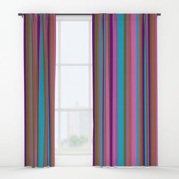 Lines #society6 Window Curtains by Azima