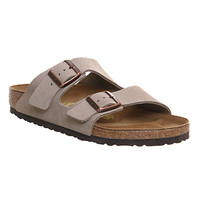 Birkenstock Arizona Two Strap Taupe Suede - Sandals