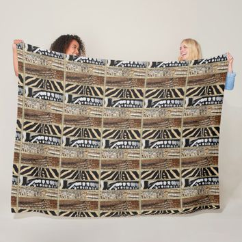 African Abstract Fleece Blanket