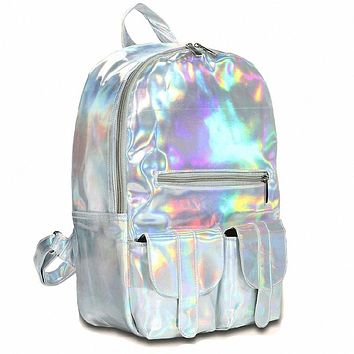 Holographic Pleather Backpack (3 Colors)