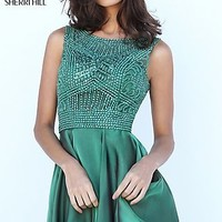 Short Dress with Beaded Top by Sherri Hill